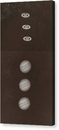 Saturn And Its Ring Jupiter And Its Belts Canvas Print by Artokoloro