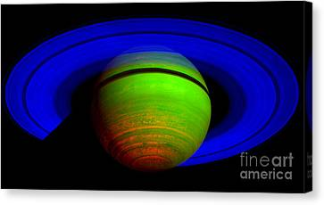 Saturn In Color Canvas Print by Paul Ward