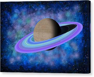 Saturn Journey Canvas Print