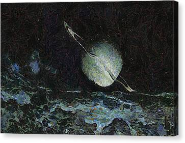 Saturn-y Canvas Print by Ayse Deniz