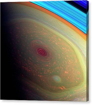 21st Century Canvas Print - Saturn's North Polar Storm by Nasa