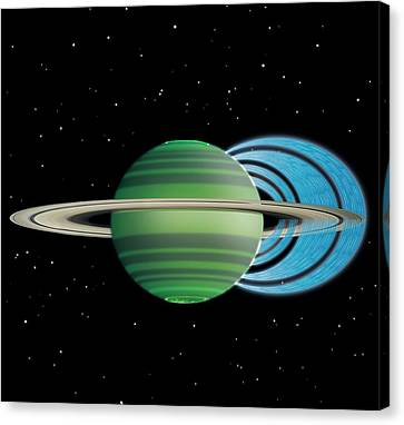Saturn's Ring 'rain' Canvas Print