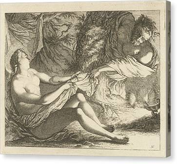 Satyr With A Nymph, Arnold Houbraken, Anonymous Canvas Print
