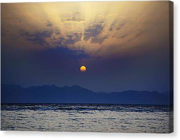 Saudi Sunrise Canvas Print by David Davies