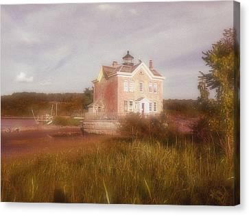 Saugerties Lighthouse Canvas Print by Gina Bartosiewicz
