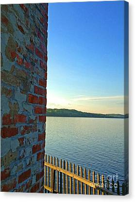 Saugerties Lighthouse On Hudson Canvas Print by Beth Ferris Sale