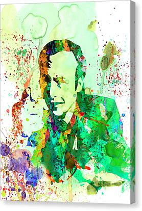 Cal Canvas Print - Saul Watercolor by Naxart Studio
