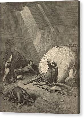 Saul's Conversion Canvas Print by Antique Engravings