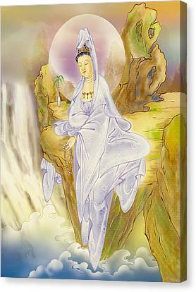 Sault-witnessing Kuan Yin Canvas Print by Lanjee Chee