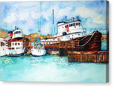 Sausalito Bay Canvas Print by Richelle Siska