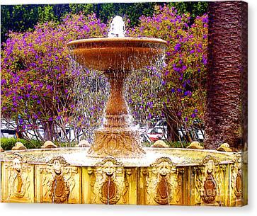 Sausalito Canvas Print - Sausalito California Fountain by Jerome Stumphauzer