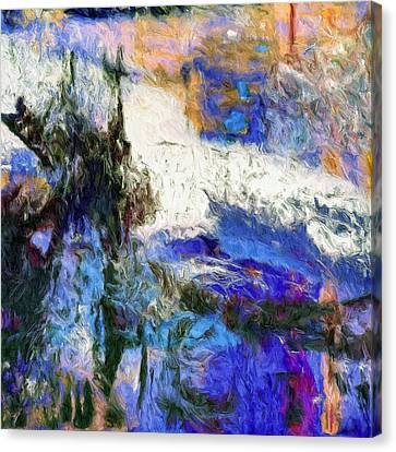 Canvas Print featuring the painting Sausalito by Dominic Piperata