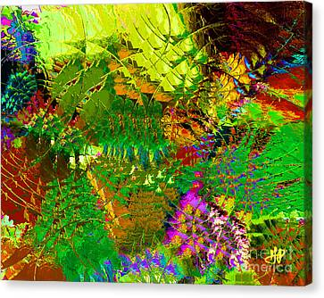 Savage Flowers Canvas Print by Hai Pham