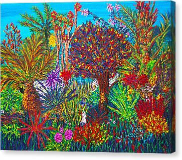 Savage Garden Canvas Print by Peri Craig