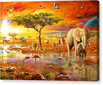 Savanna Pool Canvas Print by Adrian Chesterman
