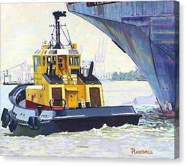 Savannah Escort Canvas Print by David Randall