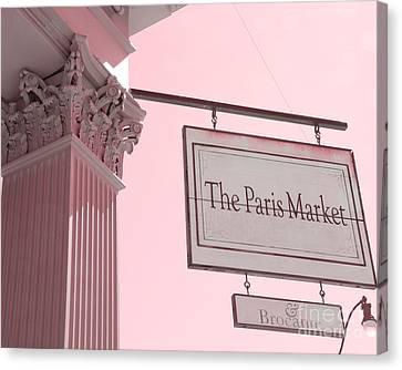 Savannah Georgia French Market - The Paris Market And Brocante - Parisian Flea Market Brocante Shop  Canvas Print by Kathy Fornal