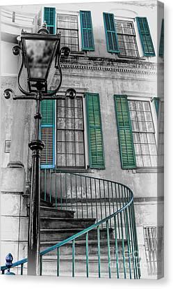 Savannah Green House Canvas Print by Henry Kowalski