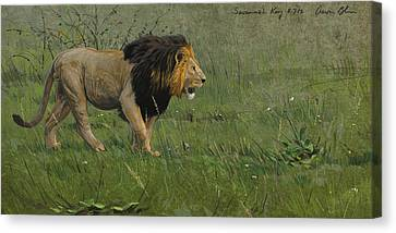 African Drawings Canvas Print - Savannah King by Aaron Blaise