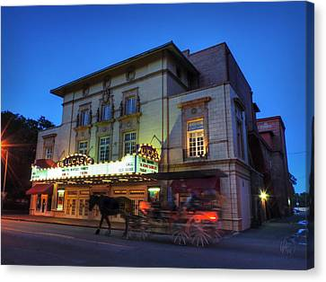 Savannah - Lucas Theatre 001 Canvas Print by Lance Vaughn