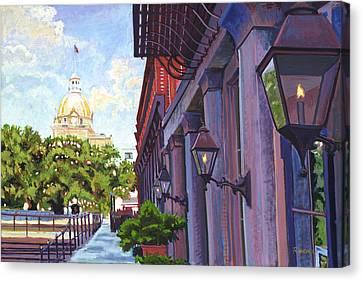 Savannah Morning Canvas Print by David Randall