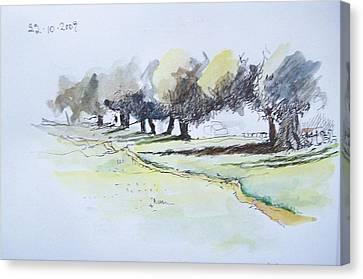 Savannah Path Canvas Print by Mary Adam