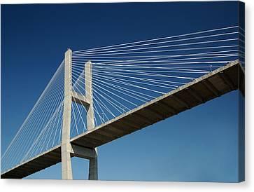 Canvas Print featuring the photograph Savannah River Bridge Georgia Usa by Bob Pardue
