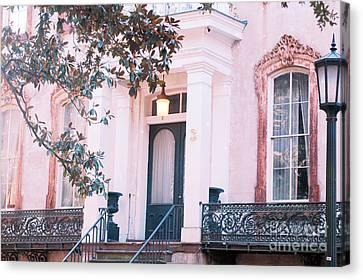 Savannah Romantic House Art Deco Windows Canvas Print