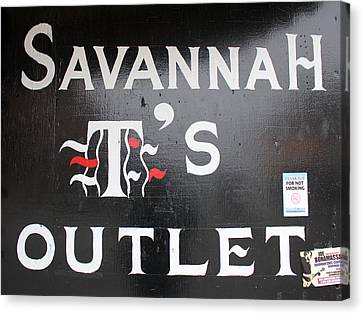 Savannah T's Outlet Canvas Print by Joseph C Hinson Photography