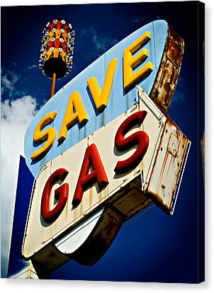 Save Gas Canvas Print by Bud Simpson