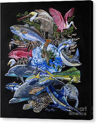 Save Our Seas In008 Canvas Print by Carey Chen