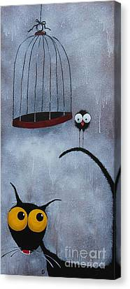 Save The Bird Canvas Print by Lucia Stewart