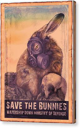 Save The Bunnies Canvas Print by Penny Collins