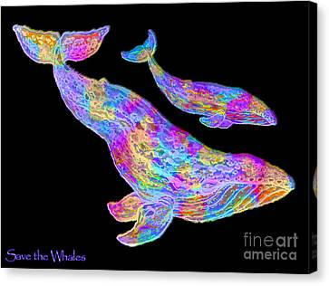 Save The Whales 2 Canvas Print by Nick Gustafson