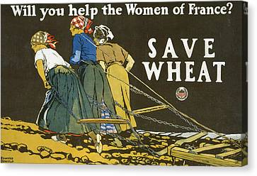 Save Wheat Canvas Print by Edward Penfield