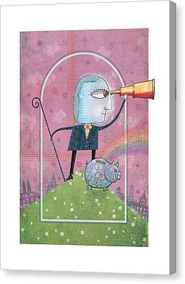 Piggy Bank Canvas Print - Saving For The Future by Dennis Wunsch