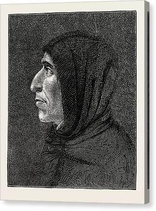 San Marco Canvas Print - Savonarola After The Portrait In San Marco by English School