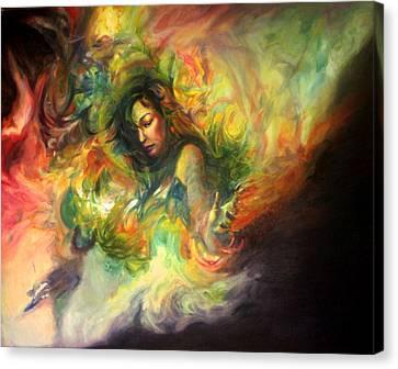 Savoring The Silence Canvas Print by Andrea Tseng