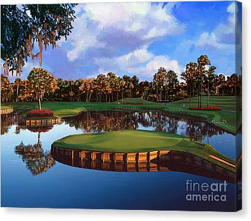 Best Canvas Print - Sawgrass 17th Hole by Tim Gilliland