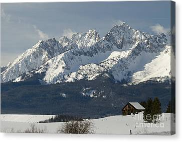 Sawtooth Mountains Canvas Print by William H. Mullins