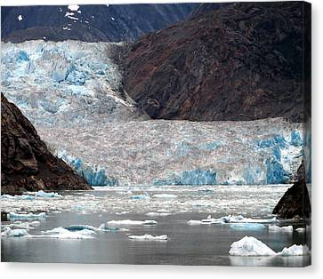 Canvas Print featuring the photograph Sawyer Glacier by Jennifer Wheatley Wolf
