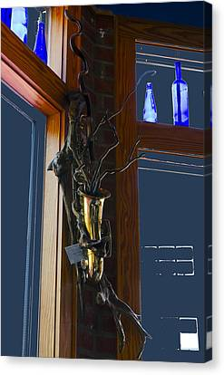 Canvas Print featuring the photograph Sax At The Full Moon Cafe by Greg Reed