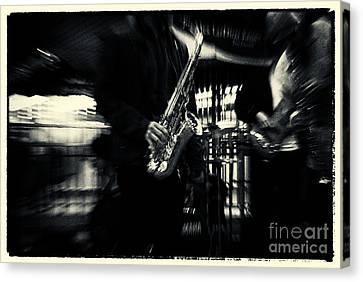 Saxophone At Columbus Circle New York City Canvas Print