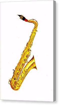 Saxophone Canvas Print by Michael Vigliotti