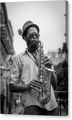 Saxophone Musician New Orleans Canvas Print