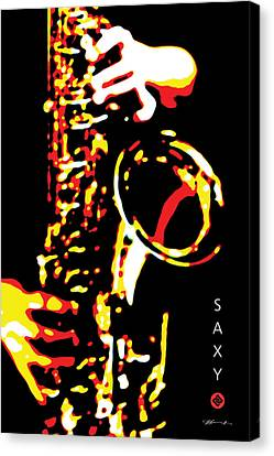 Saxy Black Poster Canvas Print by David Davies