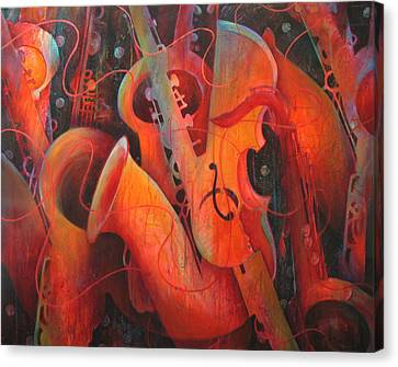 Saxy Cellos Canvas Print by Susanne Clark