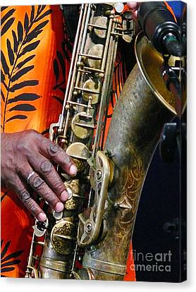 Saxy Canvas Print by Jeanne  Woods