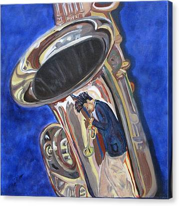 Canvas Print - Saxy Reflection Sold by Bill Manson