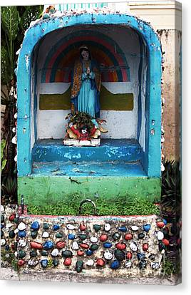 Say A Prayer In Bocas Canvas Print by John Rizzuto